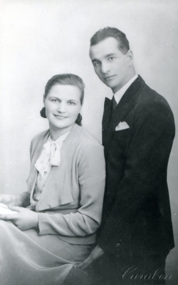 Bronius ir Vanda Vaivados Strasbūre (Prancūzija) 1933 m.
