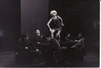 Scena iš spektaklio. Centre Fryda Fiurst – Liudvika Adomavičiūtė. PAVB FKV-191/1-42