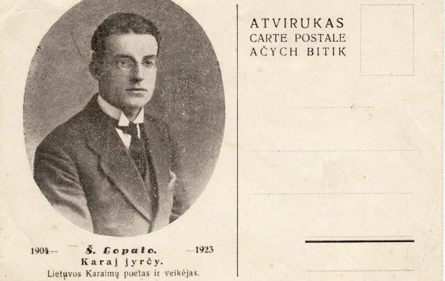 1. Poetas Š. Lopato. Nuotrauka iš Devoros Grigulevičienės archyvo