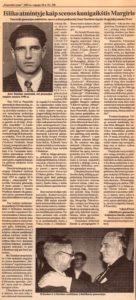 Baliūnas, Vytautas. Išliko atmintyje kaip scenos kunigaikštis Margiris // Panevėžio rytas, 1994, rugs. 28, p. 3.