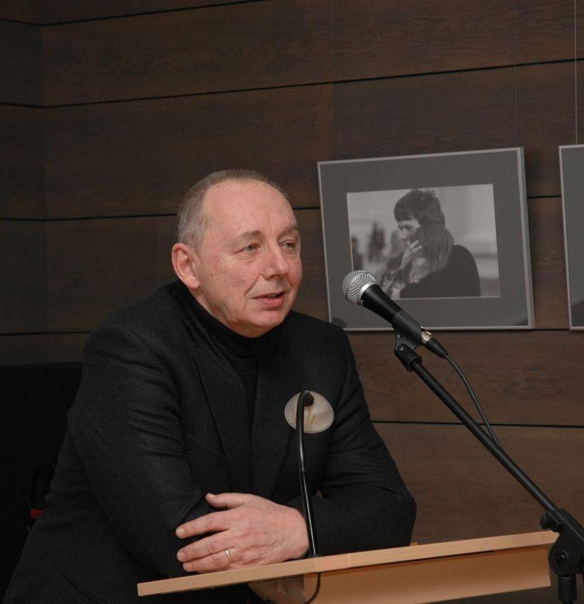 Arvydas Šliogeris Panevėžio apskrities G. Petkevičaitės-Bitės viešojoje bibliotekoje. 2010 m. V. Benašo nuotrauka