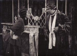 Regina Zdanavičiūtė – Tuaneta, Juozas Miltinis – Arganas. Fotogr. Kazimiero Vitkaus. PAVB FKV-105/12-3