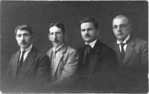2. Panevėžio muzikai. Antras iš kairės šaulių choro vadovas Vladas Paulauskas. Nuotrauka iš privačios kolekcijos