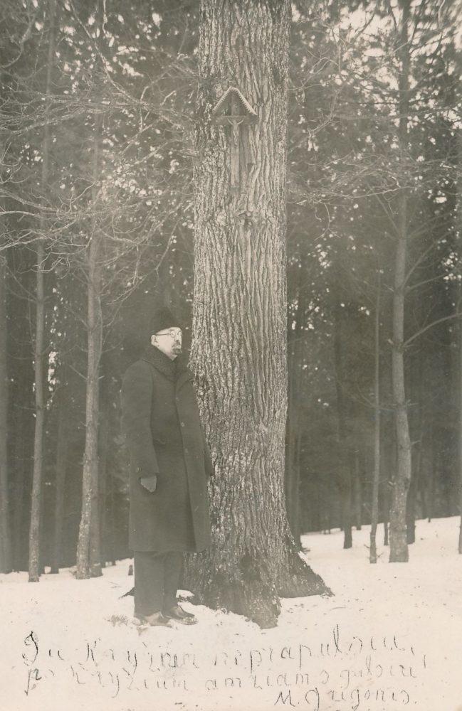 Matas Grigonis. [1933 m.] Panevėžio apskrities Gabrielės Petkevičaitės-Bitės viešoji biblioteka, Pavienių rankraščių fondas F8-86