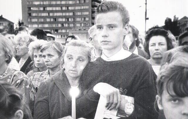 1. Panevėžys, Laisvės a. 1989 m. rugpjūčio 23 d. Nuotrauka iš Panevėžio kraštotyros muziejaus rinkinio