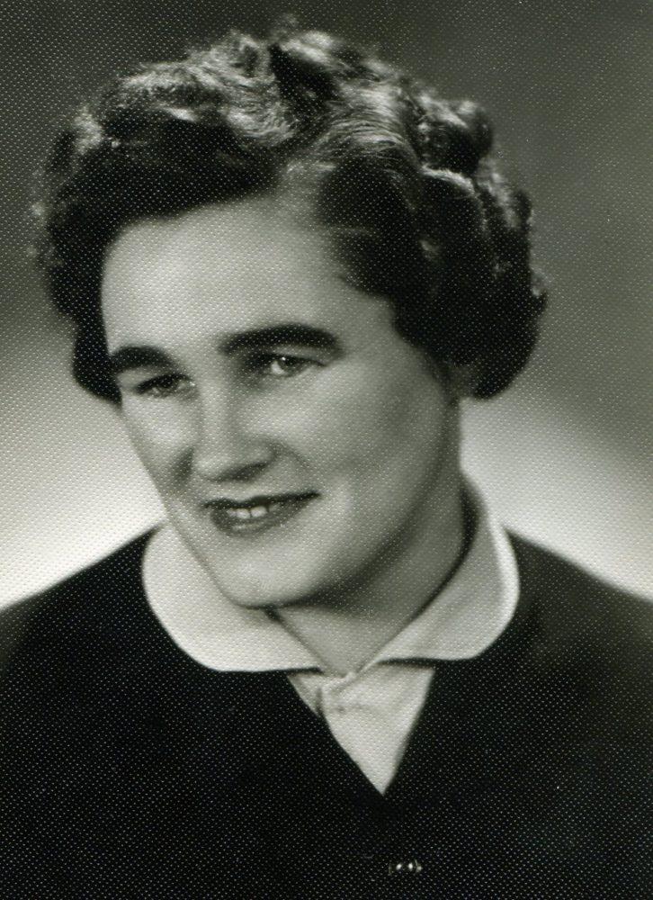 Kotryna Dičkienė. Panevėžys. Apie 1960 m. Panevėžio apskrities G. Petkevičaitės-Bitės viešoji biblioteka, PAVB F22