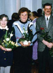 Panevėžio apskrities Gabrielės Petkevičaitės-Bitės viešosios bibliotekos 75-mečio jubiliejuje. Bibliotekos direktoriai: Monika Marmokaitė (1948–1949), Kotryna Dičkienė (1949–1977), Vanda Paškauskienė (1977–1990), Raimundas Klimavičius (1993–1996), Rima Maselytė (1997–2019). Panevėžys. 1997 m. Panevėžio apskrities G. Petkevičaitės-Bitės viešoji biblioteka, PAVB F22
