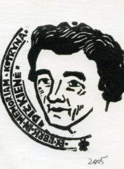 Šiaučiūnas, Povilas. Ex libris in memoriam Kotryna Dičkienė. X3, 90 x 90 mm. 2005 m. Panevėžio apskrities G. Petkevičaitės-Bitės viešoji biblioteka, Povilo Šiaučiūno fondas F25-436