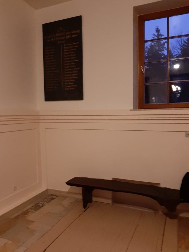 Atminimo lenta 1919–1923 m. žuvusiems už Lietuvos laisvę Ketvirtojo pėstininkų Lietuvos Karaliaus Mindaugo pulko kariams. Nuotrauka Loretos Dundulienės