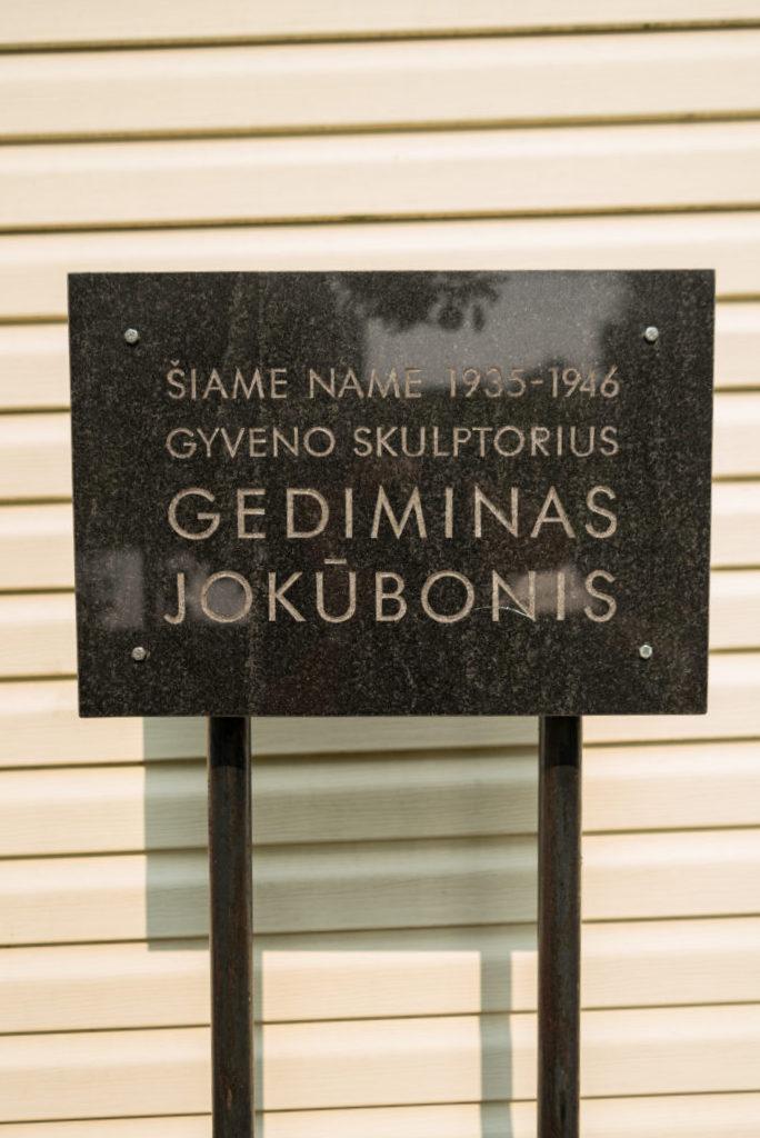 Atminimo lenta Gediminui Jokūboniui. Nuotrauka Mazylis Media