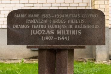 Atminimo lenta Juozui Miltiniui. Nuotrauka Mazylis Media