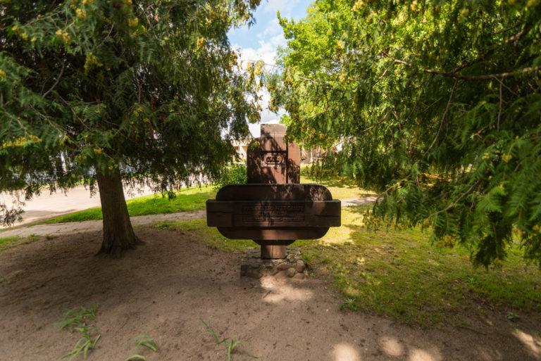 Atminimo lenta Panevėžio mergaičių gimnazijai. Nuotrauka Mazylis Media