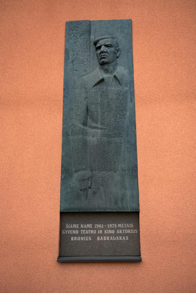 Atminimo lenta su reljefu Broniui Babkauskui. Nuotrauka Mazylis Media