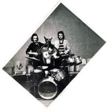 """""""Politkės grupė"""". Iš kairės: Vidas Verbickas (Krydensas), būgnai – Virginijus Bičkūnas, Romas Viksva"""