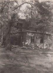 2. J. Sideravičiaus vilos statyba Berčiūnuose. 1934 m. rugpjūtis. Nuotrauka iš Panevėžio kraštotyros muziejaus rinkinių