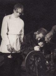 "N. Nekrasovas ""Rudens nuobodulys"", (rež. J. Miltinis), 1948 m. Vytautas Karka – Berniukas, Jonas Alekna – Lasukovas. Fotogr. K. Vitkaus. PAVB FKV-96/5-1"