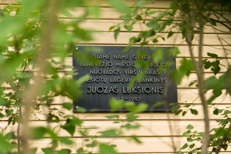 Atminimo lenta Juozui Lukšioniui. Nuotrauka Mazylis Media