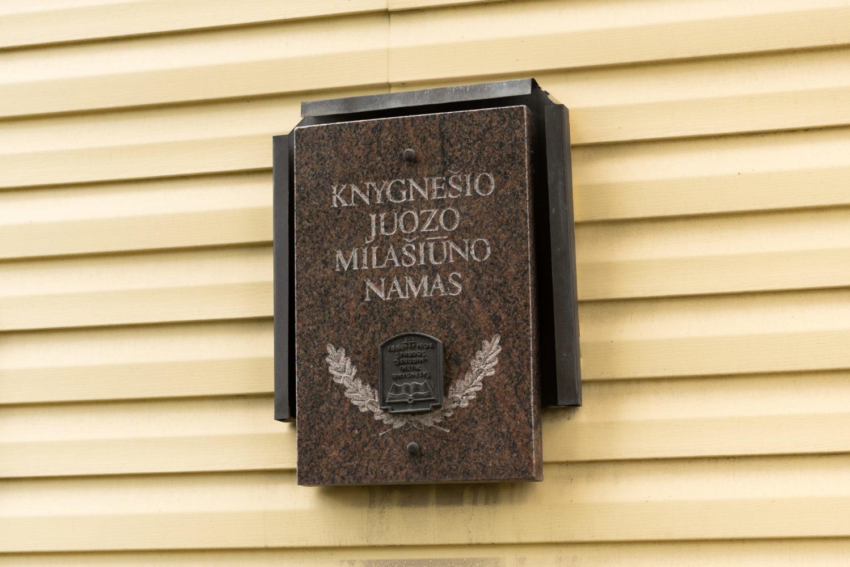 Atminimo lenta Juozui Milašiūnui. Nuotrauka Mazylis Media