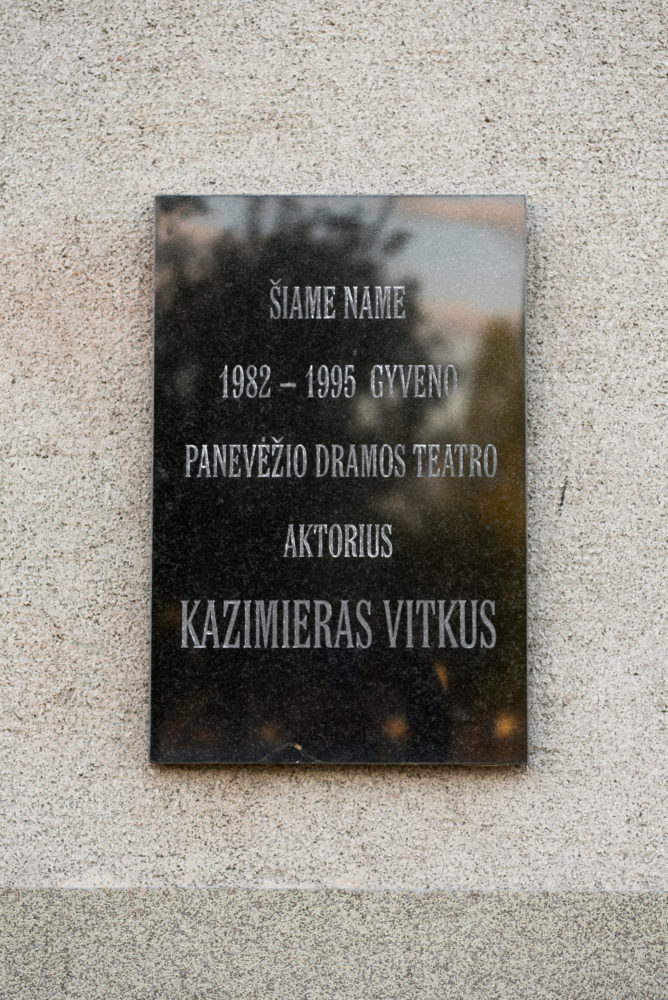 Atminimo lenta Kazimierui Vitkui. Nuotrauka Mazylis Media