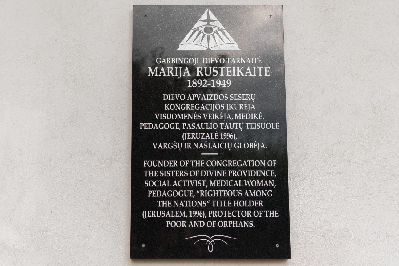 Atminimo lenta Marijai Rusteikaitei. Nuotrauka Mazylis Media
