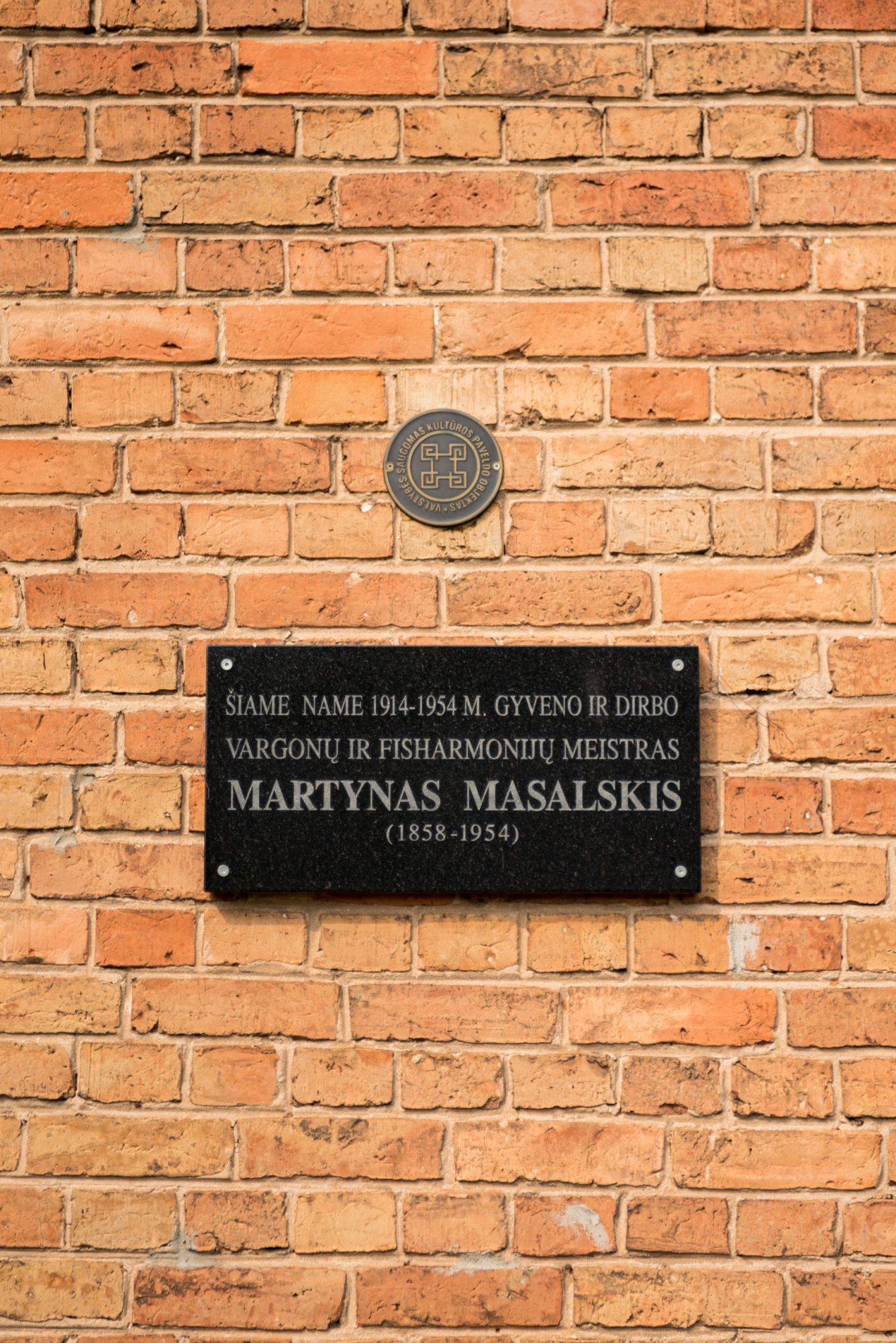 Atminimo lenta Martynui Masalskiui. Nuotrauka Mazylis Media
