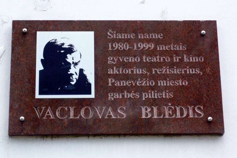 Atminimo lenta Vaclovui Blėdžiu. Nuotrauka Astos Rimkūnienės