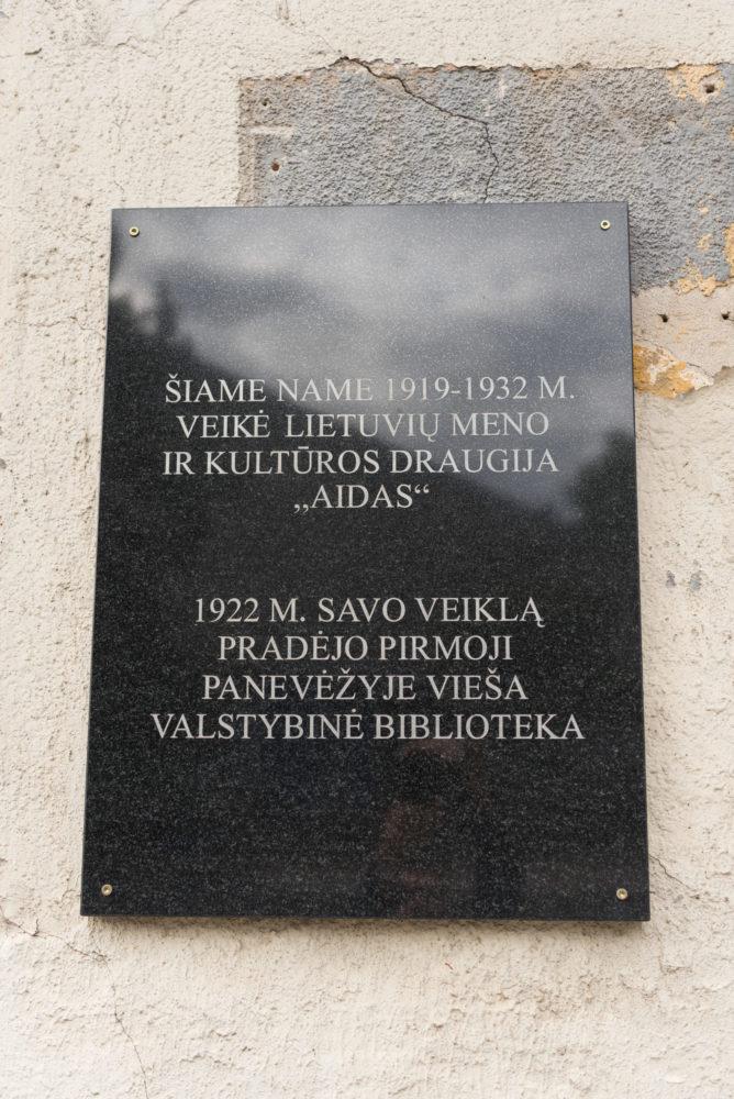 """Atminimo lenta lietuvių meno ir kultūros draugijai """"Aidas"""". Nuotrauka Mazylis Media"""