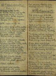2. Broniaus Krivicko eilėraščiai. Nuotrauka iš Pasvalio Mariaus Katiliškio viešosios bibliotekos rinkinio