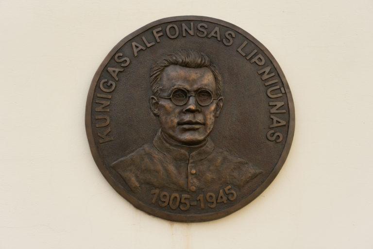 Alfonso Lipniūno bareljefas. Nuotrauka Mazylis Media