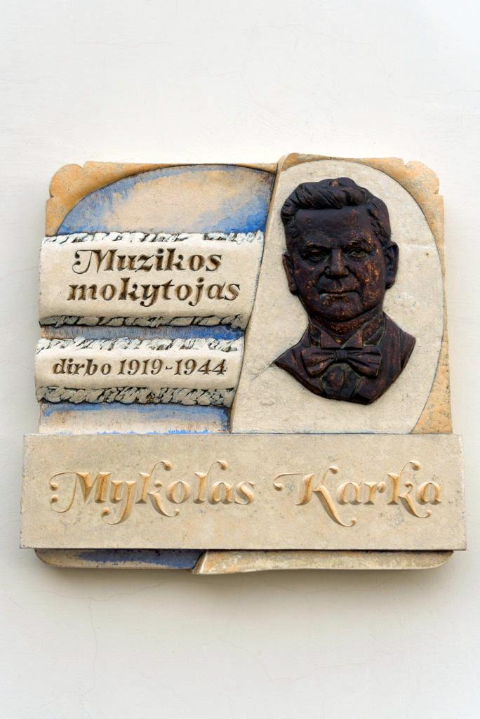 Mykolo Karkos bareljefas. Nuotrauka Mazylis Media