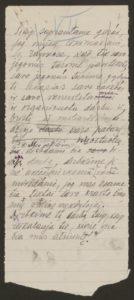 Gabrielės Petkevičaitės-Bitės kalbos, pasakytos atidarant Steigiamąjį Seimą, autorinis rankraštis. LMAVB F190-37, l.7