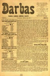 Steigiamojo Seimo rinkimų V-sios (Panevėžio) apygardos Lietuvos socialistų liaudininkų demokratų partijos sąrašas Nr. 10. Darbas, 1920, kovo 31 d., nr. 24. PAVB S 1710
