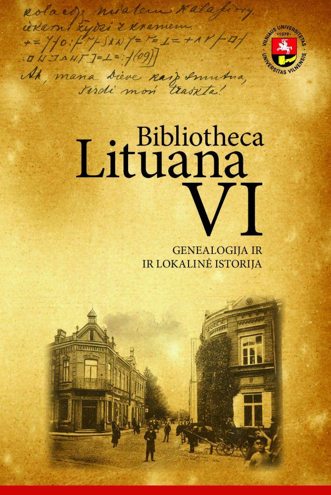 Bibliotheca Lituana. T. 6