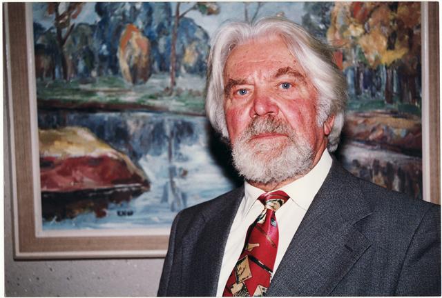 Dailininkas, Panevėžio miesto garbės pilietis Kazimieras Naruševičius. XX a. 10 deš. Nuotrauka iš Panevėžio kraštotyros muziejaus fondų
