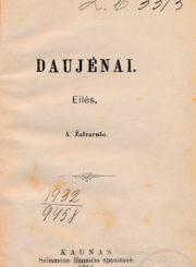 Tilvytis, Jurgis. Daujėnai. Kaunas, 1910. 10 p. : iliustr.
