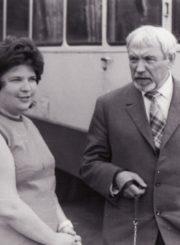 Violeta Palčinskaitė ir Juozas Miltinis. Vilnius, 1974 m. Nuotrauka iš Juozo Miltinio palikimo studijų centro fondo