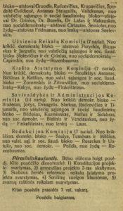 Komisijų sudarymas. Steigiamojo Seimo darbai : [posėdžių stenogramos]: 1920 m. 1-sis sąs., p. 26, 27. PAVB S 2093