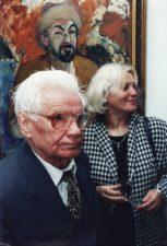 Aktoriai Vaclovas Blėdis ir Gražina Urbonavičiūtė J. Miltinio palikimo studijų centre. 1998 m. Fotogr. Sergejaus Kašino