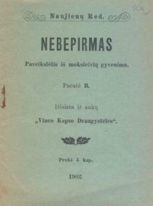 Nebepirmas / parašė B. [Jelgava], 1902. PAVB 17-6090