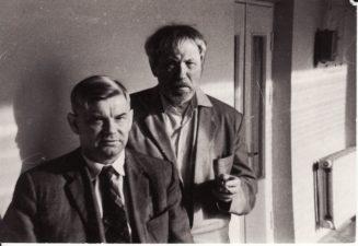 Vaclovas Blėdis ir Juozas Miltinis. Apie 1972 m. PAVB FJM 1018/4