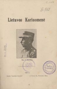 Lietuvos kariuomenė / P. Ruseckas. [JAV : s.n.], 1927. PAVB S 10-5510