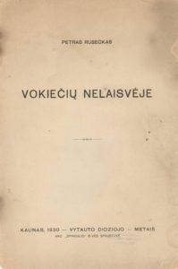 Vokiečių nelaisvėje / Petras Ruseckas. [Kaunas], 1930. PAVB S 17-1593