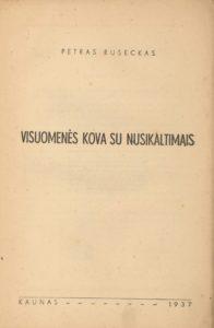 Visuomenės kova su nusikaltimais / Petras Ruseckas. Kaunas, 1937. PAVB S 3448
