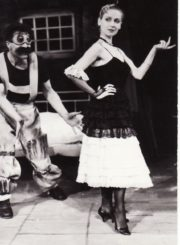 """S. Stratijevas """"Maksimalistas"""" (rež. Peteris Stoičevas), 1988 m. Algirdas Paulavičius – Stalius, Eleonora Koriznaitė – Ivanka. Fotogr. Kazimiero Vitkaus. PAVB FKV-258/5-1"""