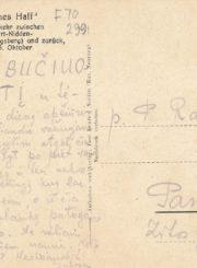 Juodeškaitė-Rapšienė, Julija. Atvirlaiškis artimiesiems į Panevėžį, rašytas viešint Nidoje. 1936.06.23. Panevėžio apskrities Gabrielės Petkevičaitės-Bitės viešoji biblioteka, Laimos Rapšytės fondas F70-299
