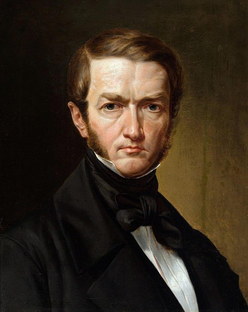 Kanutas Ruseckas. Autoportretas. 1840