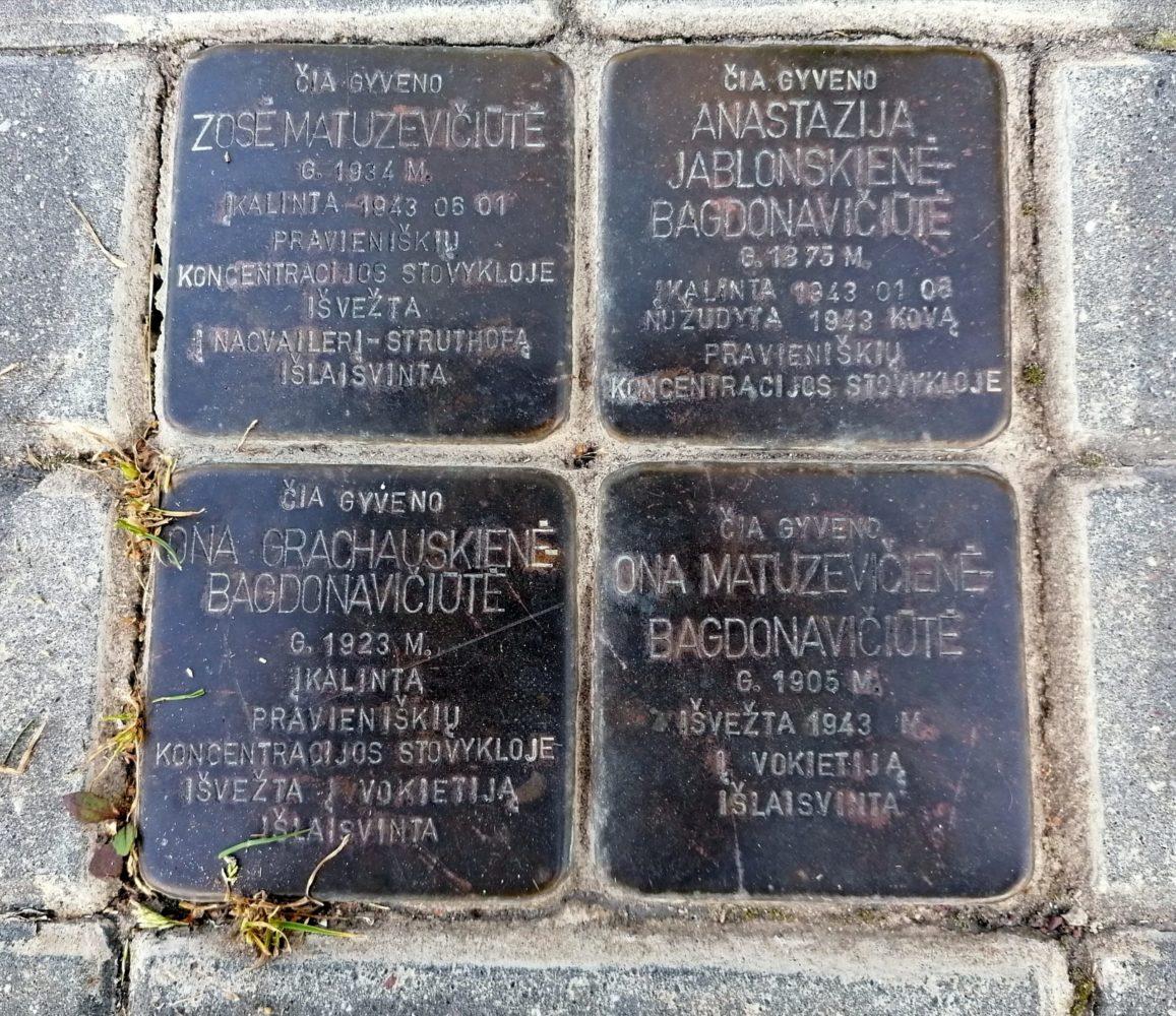 """""""Atminimo akmenys"""", įamžinantys romų holokausto aukas. Astos Rimkūnienės nuotrauka"""