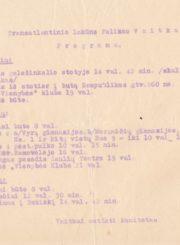 [Ltn. Feliksui] Vaitkui sutikti komitetas. Transatlantinio lakūno Felikso Vaitkaus sutikimo Panevėžyje programa 1935 m. spalio 15-17 d. Panevėžio apskrities Gabrielės Petkevičaitės-Bitės viešoji biblioteka, Pavienių rankraščiųš fondas F8-637