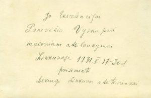 Linkuvos ateitininkų kuopa per metinę šventę su dvasininkais. Linkuva. 1931.05.19. Nuotrauka iš Panevėžio vyskupijos kurijos archyvo