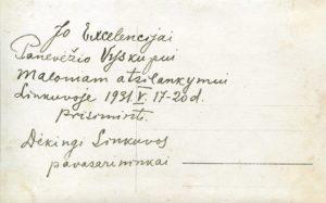 Linkuvos pavasarininkai su dvasininkais. Linkuva. 1931.05.20. Nuotrauka iš Panevėžio vyskupijos kurijos archyvo